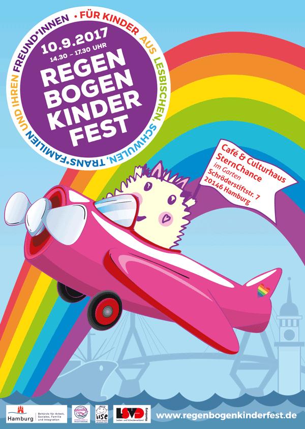 Plakat des Regenbogenkinderfests 2017