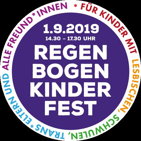Plakat: Regenbogenkinderfest, das Fest für Kinder mit lesbischen, schwulen, trans*Eltern und alle Freund*innen